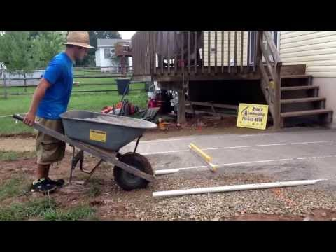 How to install sand base for a paver patio in Littlestown, Pa... Ryan's Landscaping