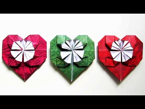 Origami heart instructions - learn how to fold paper hearts in 6 minutes - EzyCraft