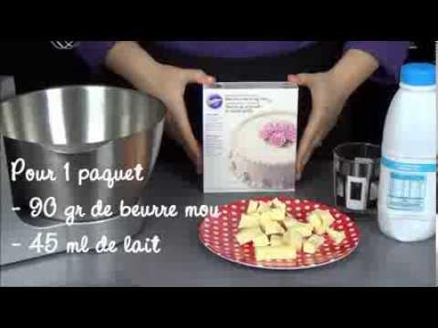 Mode d'emploi en français du buttercream icing mix Wilton