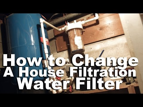 How to Change a Whirlpool House Filtration Filter or Well Water Filter.