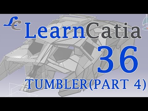 Learn catia V5 Tutorials for beginners  TUMBLER  BAT-MOBILE PART 4💙