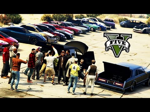 GTA V - Grand Senora Car Meet !