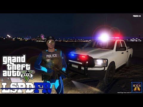 Santa Monica Beach Patrol at Night in a Dodge Ram GTA 5 LSPDFR Episode 321