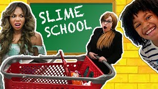 Slime School Teacher Switch Up! Students Sneak Candy Shopping Cart - New Toy School