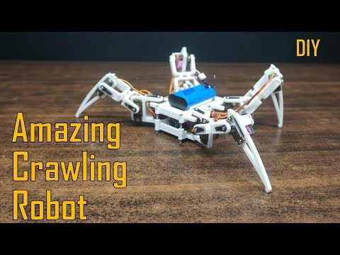 How to make a WALKING SPIDER ROBOT at home | 3D printed crawling robot | Indian Lifehacker