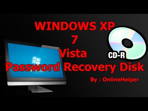 How To Create A Windows Password Reset Disk Windows 7 & Vista & 8 & Xp