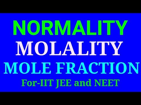 molarity, normality, molality, mole fraction, short trick in hindi