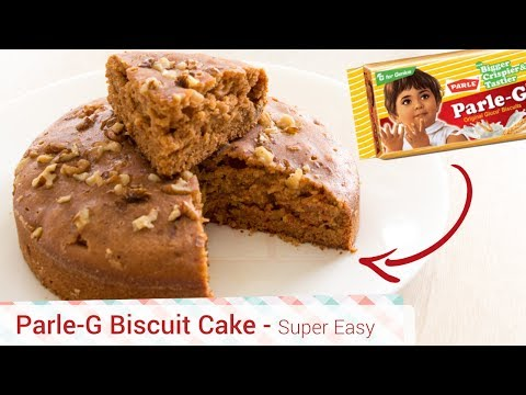 Best Parle-G Biscuit Cooker Cake Recipe - Easy, Cheap, Simple cake. eggless biscuit cake in cooker