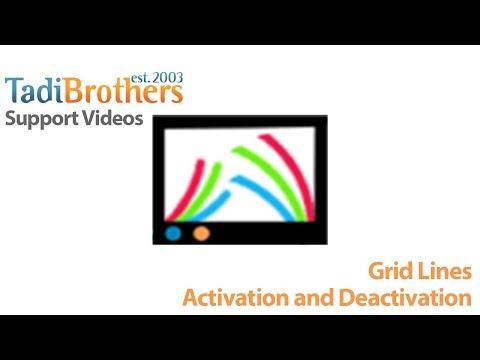Grid Lines activation and deactivation on a standard backup camera