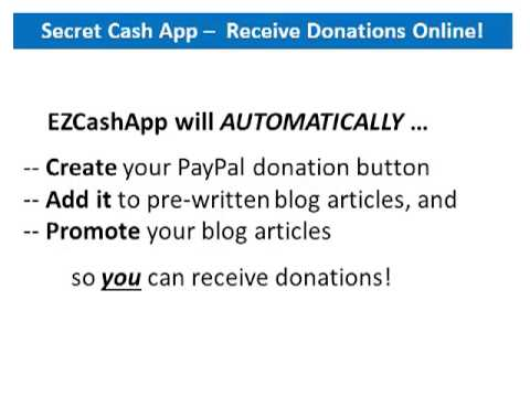 Receive Donations Online With This Secret Cash App