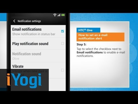 How to Set an Email Notification Alert on HTC® One