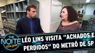 Léo Lins visita os achados e perdidos do metrô de SP   The Noite (24/05/17)