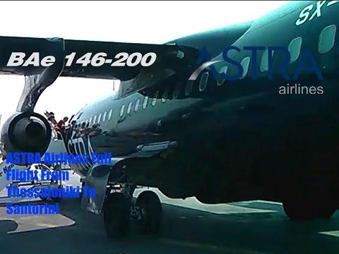 ASTRA Airlines Bae 146-300 flight From Thessaloniki to Santorini || kosn4smw