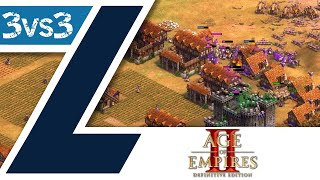 3vs3 Casual Ranked Game - Age of Empires II: Definitive Edition - Deutsch