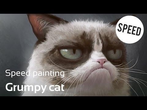 SPEED PAINTING - Grumpy Cat