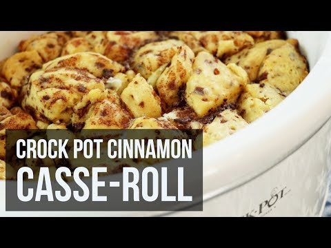 Crock Pot Cinnamon Cassa-roll | Easy Slow Cooker Breakfast & Brunch Recipe by Forkly
