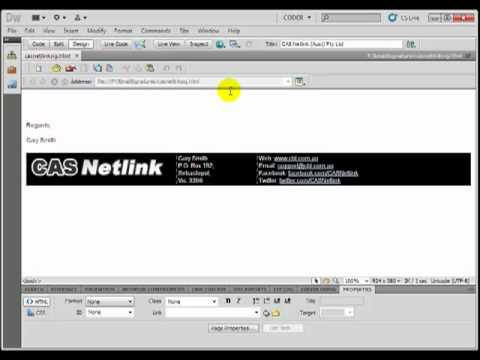 Add HTML Signature To Outlook 2010 - Tutorial