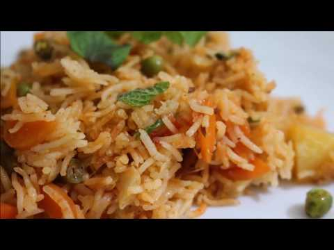 Vegetable Biryani Recipe in Electric Rice Cooker
