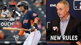 Alex Bregman HIT BY PITCH! George Springer Booed, MLB New Rules 2020.. (MLB News)