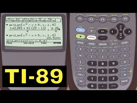 TI-89 Calculator - 07 - Calculating Arc Length of a Function with the TI-89 Calculator
