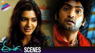 Samantha and Santhanam Best Comedy | Nani Eega Malayalam Movie Scenes | EECHA | Telugu Filmnagar
