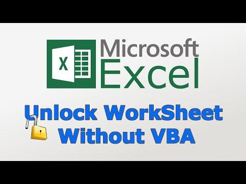 How to unlock excel worksheet without VBA & Password | TechChip | Hindi