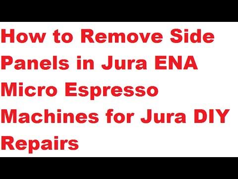 Jura ENA Micro 9: Remove Side Panels to Open the Machine