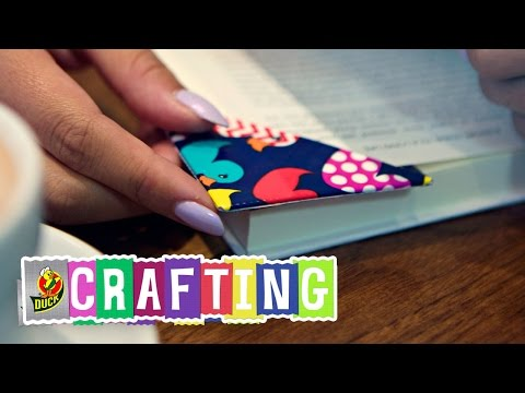 How to Craft a Duct Tape Corner Bookmark