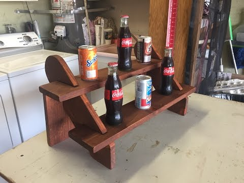 Wood  2 Shelf Display