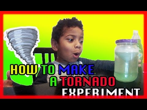 How To Make a tornado in a bottle | Easy Science Experiments For Kids