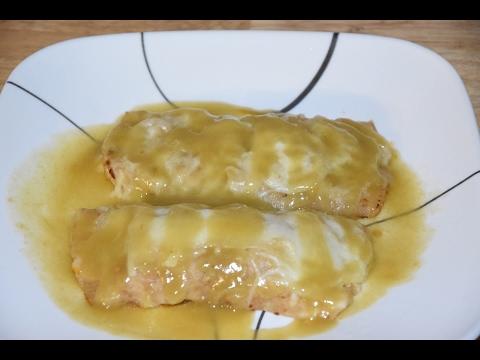 Creamy Chicken Enchiladas Recipe - Receta de Enchiladas - Chicken Enchiladas With Green Chile Sauce