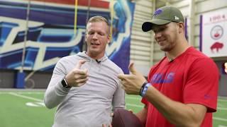 Buffalo Bills' Josh Allen talks QB technique, journey to NFL | Having a Catch with Chris Simms