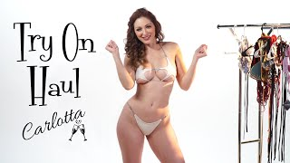 String Bikini Try On Haul Pt 2 - Most Scandalous Swimsuits with Carlotta Champagne
