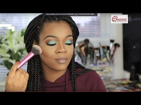 Makeup for Dark skin, Brown  skin,Black women,start to finish |THE BEAUTICIANCHIC