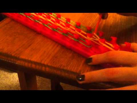 How to make rainbow bridge rubber band bracelets