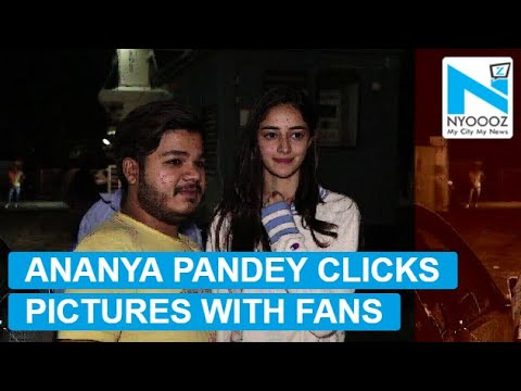 Fans click selfies with Ananya Pandey