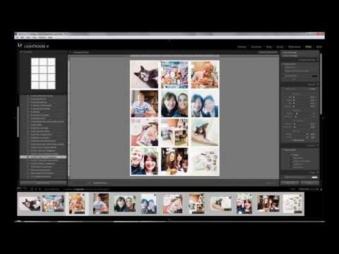 Creating Photo Collages in Lightroom Part 3: 8.5x11 with 12 Square Photos