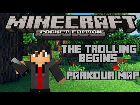 Minecraft Pocket Edition [0.9.0]: Parkour Map - The Trolling Begins