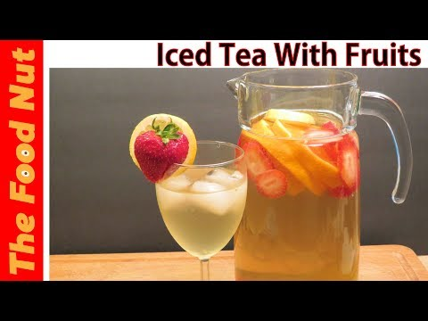 How to make HOMEMADE ICED TEA: RECIPE WITH LEMON, STRAWBERRIES, LICORICE & LEMONGRASS FLAVOR