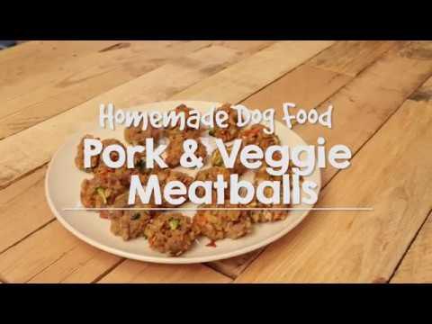 Homemade Allergy Dog Food: Pork & Vegetable Meatballs