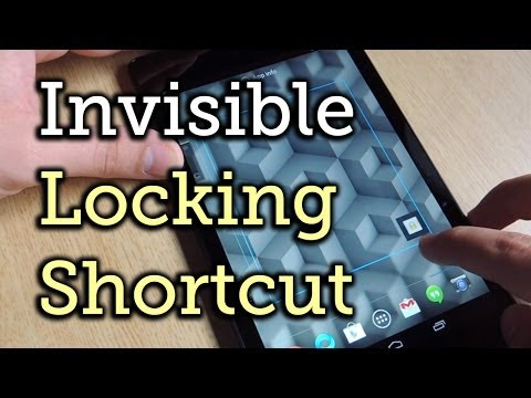 Lock a Nexus 7 with an Invisible Lock Screen Widget on the Home Screen [How-To]