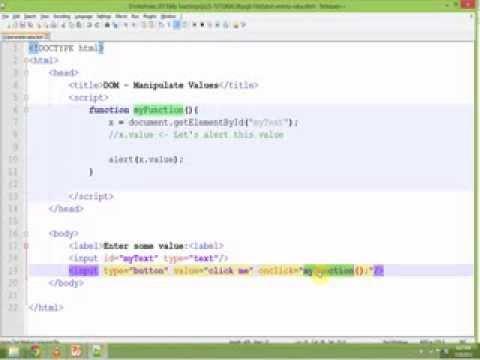 JavaScript DOM Events Part 3 - Manipulate Input Box Values