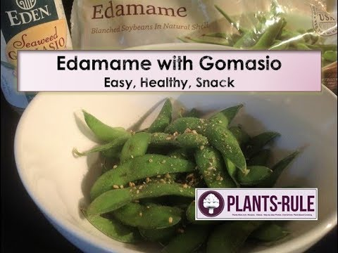 Edamame with Gomasio - Quick Healthy Vegan Snack