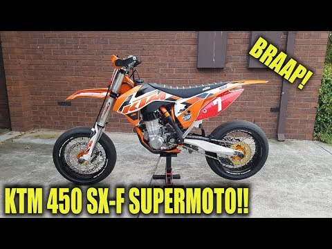 KTM 450SXF Supermoto Build | My New Bike!