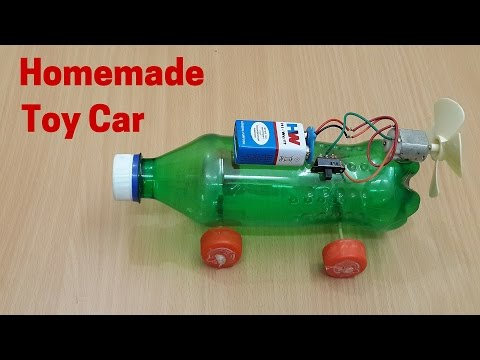 How to Make a Homemade Electric Toy Car - Motor Powered Car