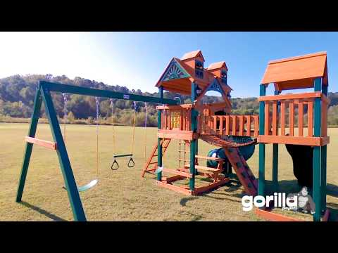 Wilderness Gym Swing Set with Bridge