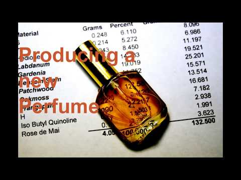 Producing 900 ml of a new perfume from a 12-aroma-ingredient formula