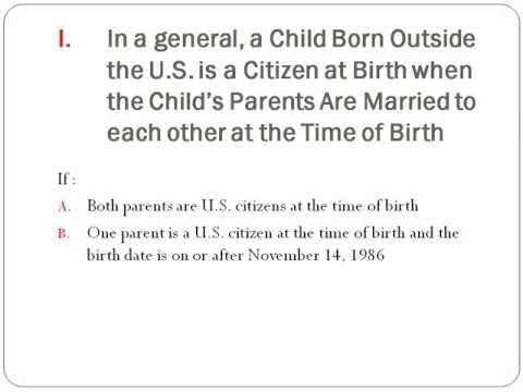Citizenship through parents