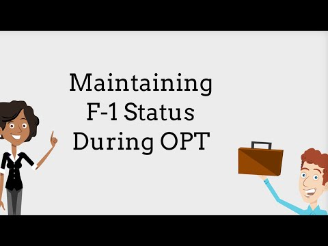 OPT and your F-1 Status 6/9