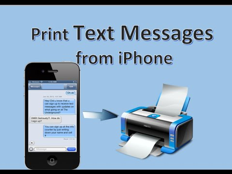 Free Way to Print Text Messages from iPhone 7/6/6S/6S Plus/5S